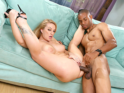 MILF Aline Stuffed with a Big Black Cock
