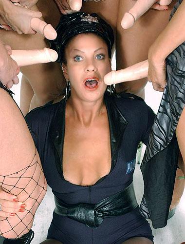 Sexy MILF Vanessa Gangbanged